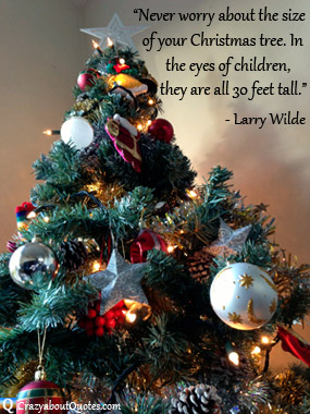 Christmas quotes and tree.