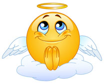 Praying angelic emoticone