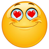 Funny love emoticone