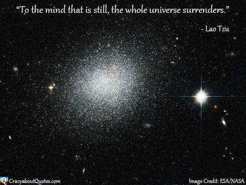 Image from NASA with Lao Tzu quote.