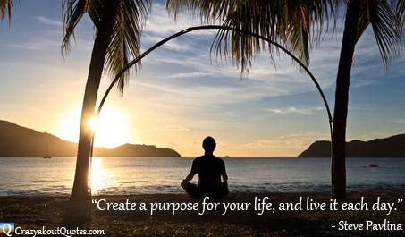 Meditation on beach at sunrise with Steve Pavlina quote