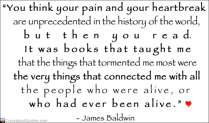 Quotes about books by James Baldwin.