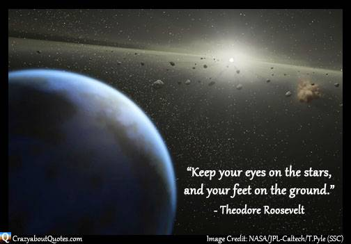 NASA image with Theodore Roosevelt quote