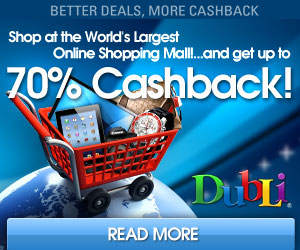 Go to cash back for shopping
