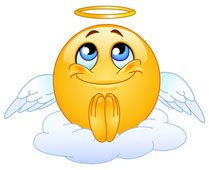 Praying angelic emoticone