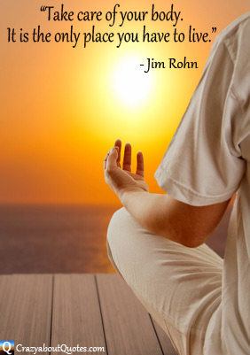 Meditation at sunrise with Jim Rohn quote.