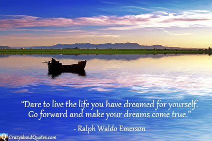 Fishing boat in beautiful blue waters with retirement quotes.