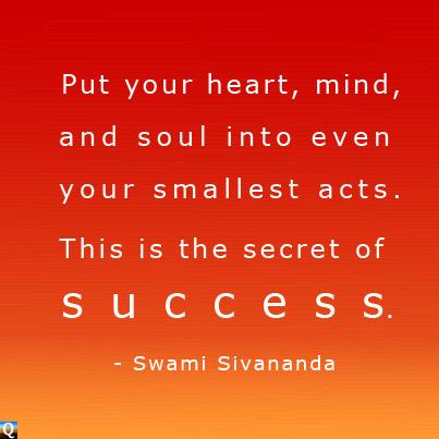 The secret of success quotes.