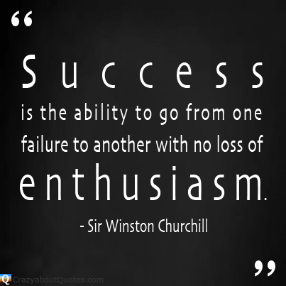 Churchill quote about success and enthusiasm.